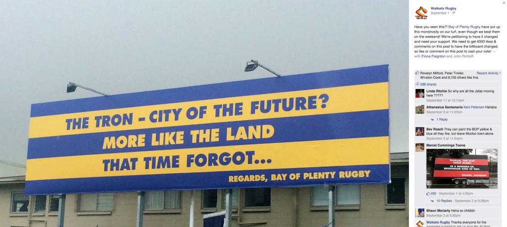 BOP vs Waikato Billboard